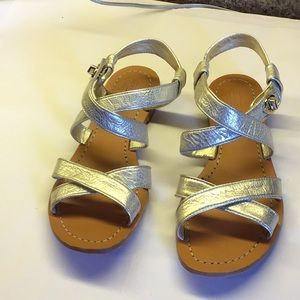 Coach Gold Sandals with Turnlock Closure 9M